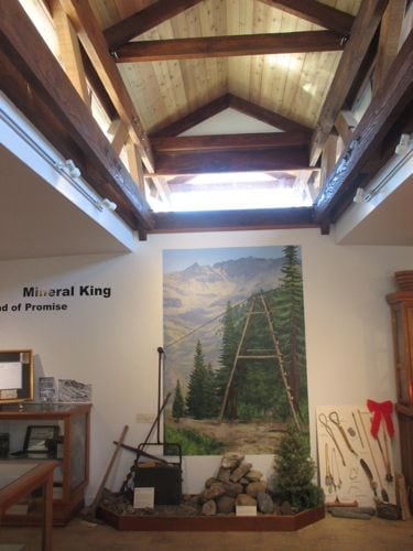 Mineral King mural in Three Rivers Museum of Empire Mt. mining area.