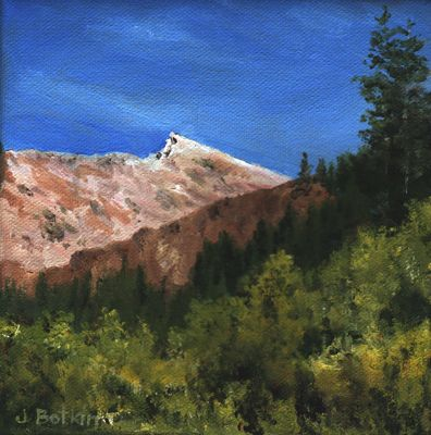 oil painting of sawtooth