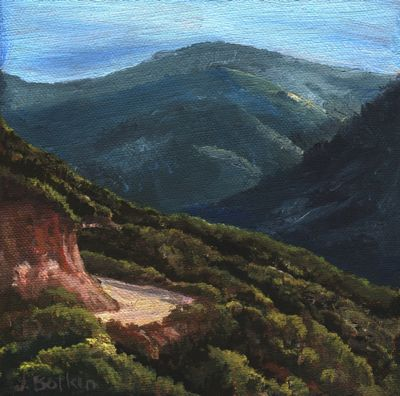 oil painting of mineral king road