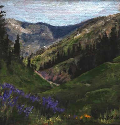 oil painting of Timber Gap