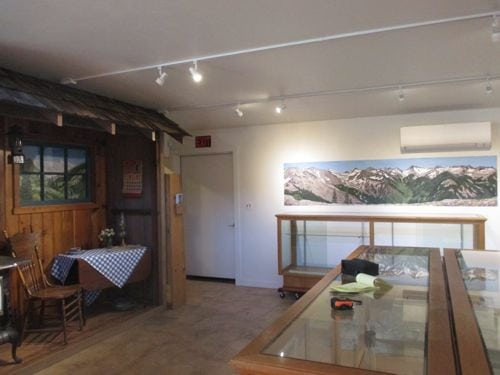 2 more murals in the Mineral King Room of the Three Rivers Museum