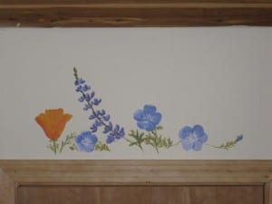 wildflowers over a doorway