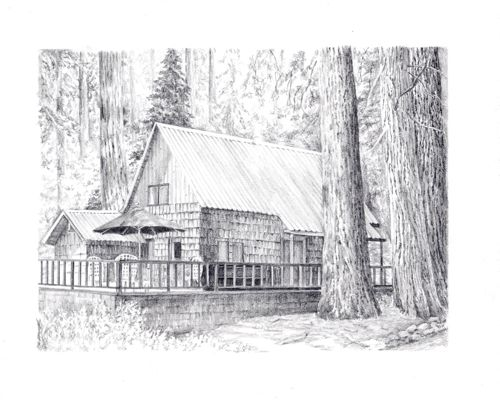 Drawings Of Cabins: cabin drawings