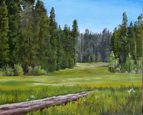 oil painting of Crescent Meadow by Jana Botkin