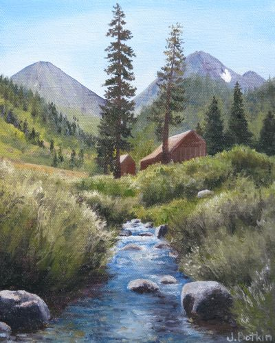 oil painting of Farewell Gap by Jana Botkin