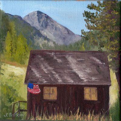 Honeymoon Cabin oil painting