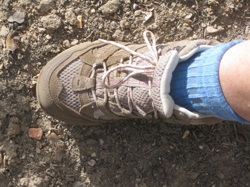 photograph of hiking boot by Jana Botkin