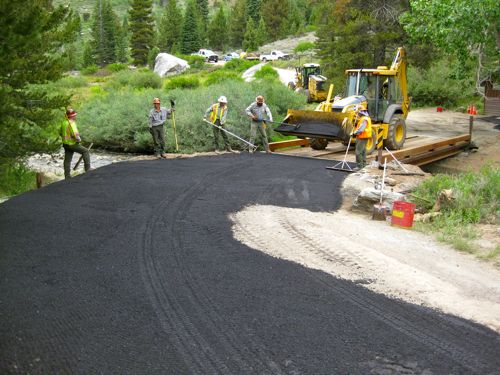 asphalt overlay on approach in Mineral King, photo by Michael Botkin