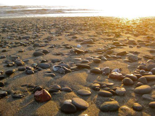 pebbles on an Oregon beach