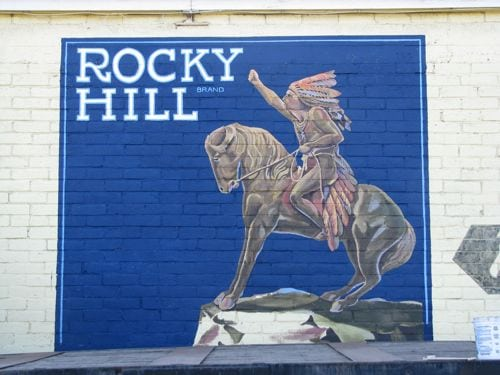Rocky Hill Antiques Mural in progress