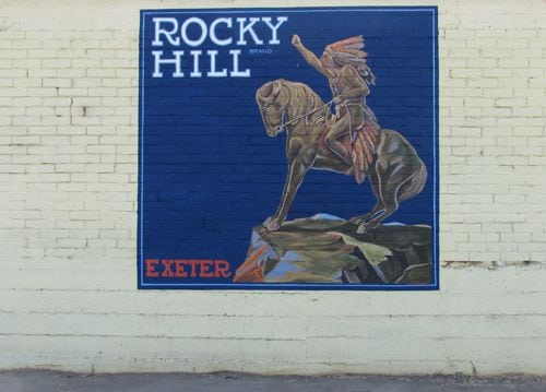Rocky Hill Antiques mural