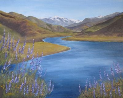 Lake Kaweah oil painting