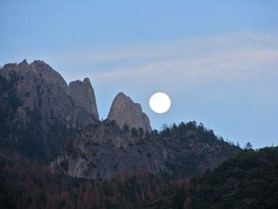 Moonrise above Castle Rocks
