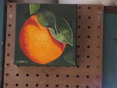 orange oil painting