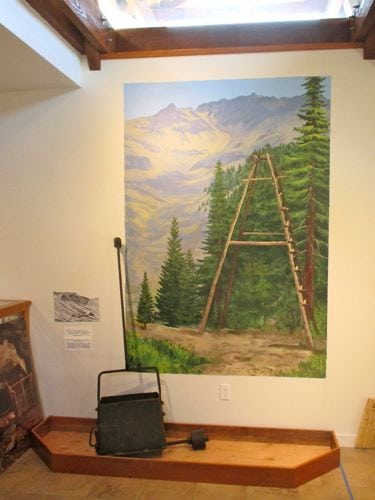 This was the first mural in the Mineral King Room at the Three Rivers Museum.