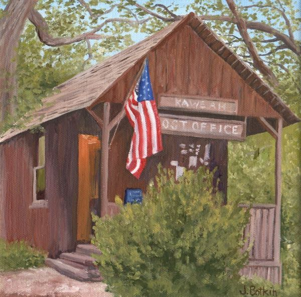 Kaweah Post Office VIII oil painting
