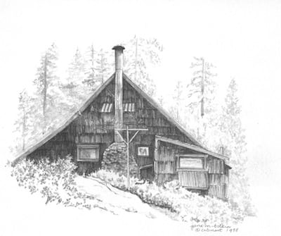 gallery for gt pencil drawings of cabins