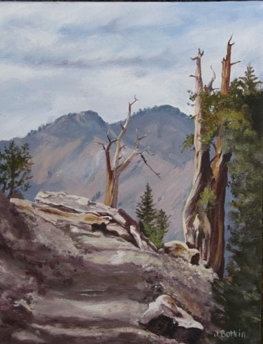 Monarch Trail oil painting
