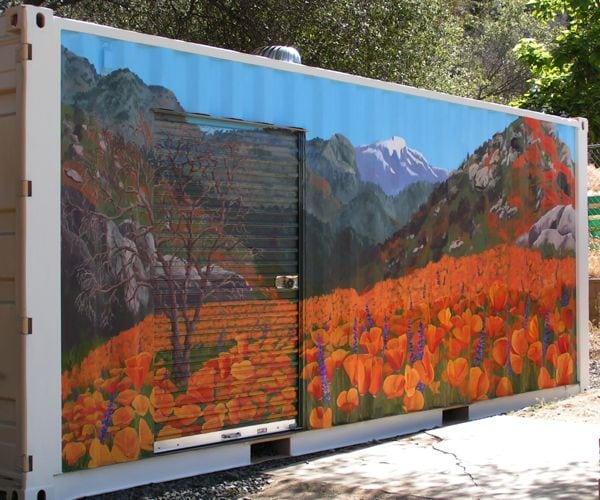 poppy mural