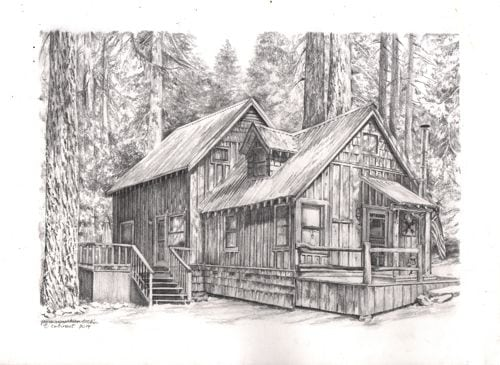Pencil drawings of cabins joy studio design gallery Cabin drawings