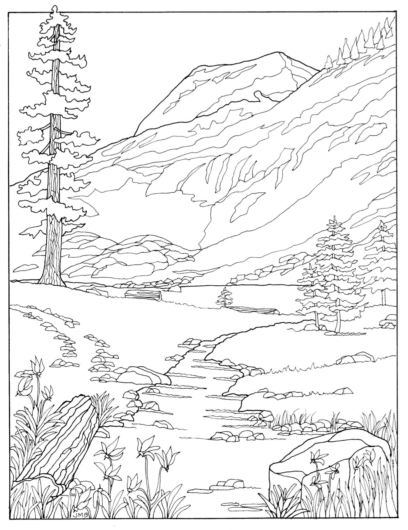 "White Chief as it appears in the coloring book ""Hear t of Mineral King"""