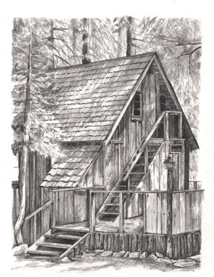 Wilsonia cabin drawing