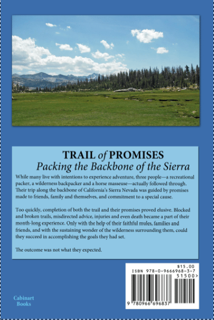 Trail of Promises back cover