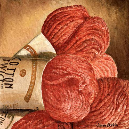 oil painting of yarn