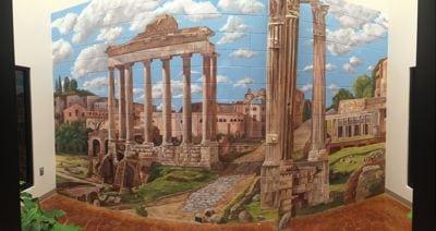 Roman Ruins Inside Visalia Granite