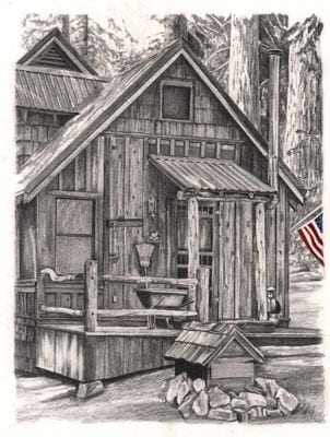 Wilsonia cabin drawing
