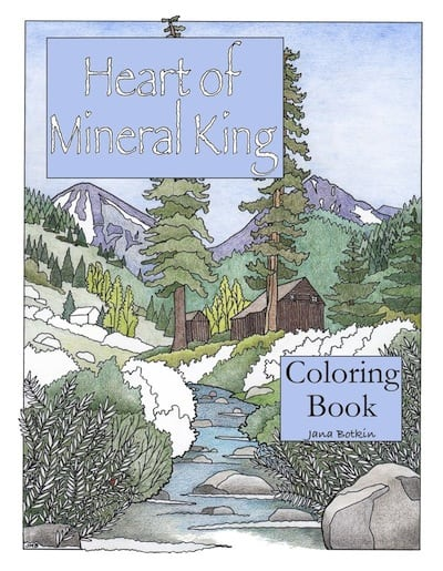 mineral king coloring book