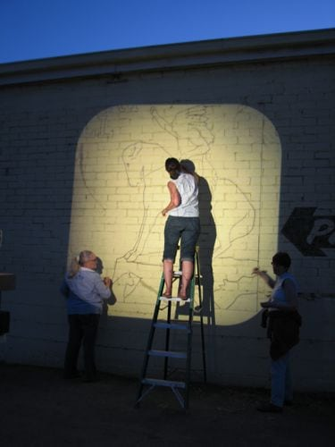 Diy Wall Mural With A Homemade Projector Hometalk